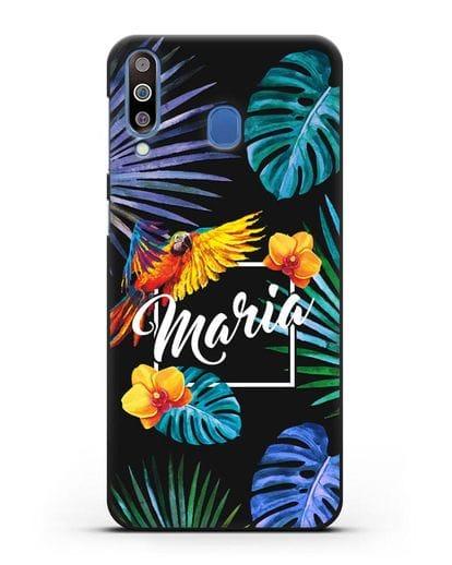 Именной чехол Рио силикон черный для Samsung Galaxy M30 [SM-M305F]