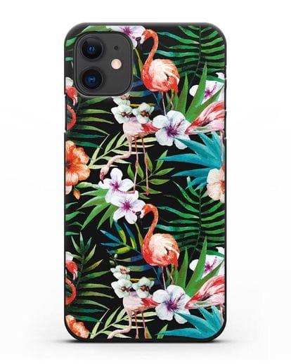 Чехол Дивный сад силикон черный для iPhone 11