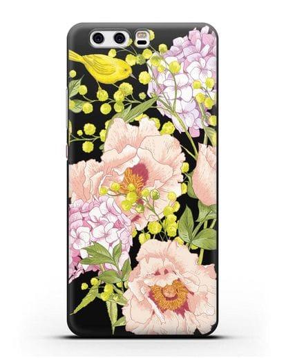 Чехол Садовая мелодия силикон черный для Huawei P10 Plus