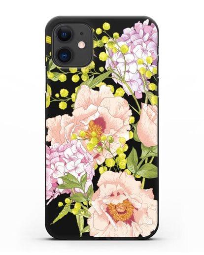 Чехол Садовая мелодия силикон черный для iPhone 11