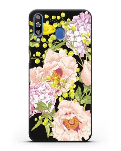 Чехол Садовая мелодия силикон черный для Samsung Galaxy M30 [SM-M305F]