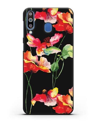 Чехол Маки силикон черный для Samsung Galaxy M30 [SM-M305F]