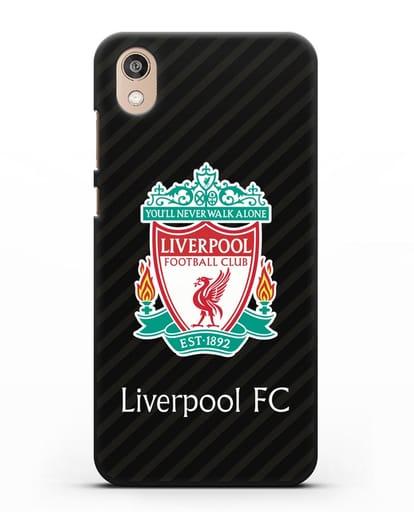 Чехол с логотипом ФК Ливерпуль силикон черный для Honor 8S