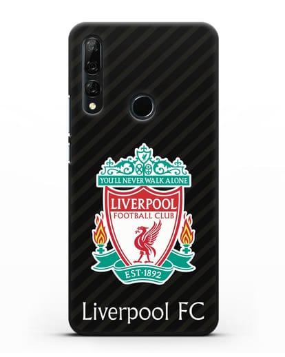 Чехол с логотипом ФК Ливерпуль силикон черный для Honor 9X