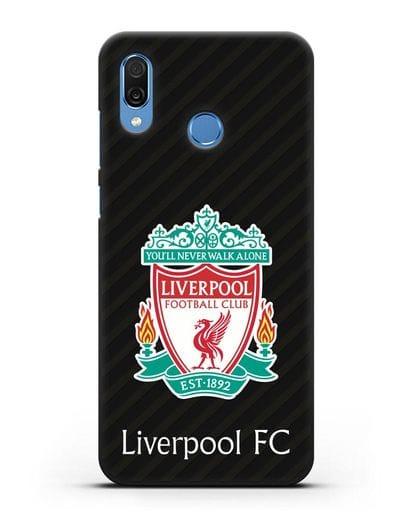 Чехол с логотипом ФК Ливерпуль силикон черный для Honor Play