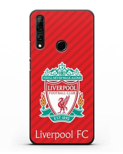 Чехол с эмблемой FC Liverpool с красным фоном силикон черный для Honor 9X