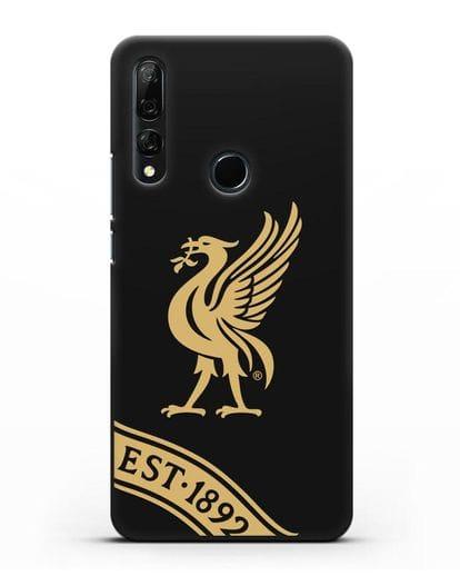 Чехол ФК Ливерпуль с птицей Лайвер и надписью 1892 силикон черный для Honor 9X