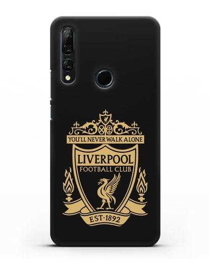 Чехол с эмблемой Liverpool и надписью You'll never walk alone силикон черный для Honor 9X