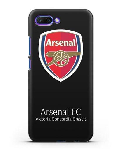 Чехол с логотипом ФК Арсенал Лондон силикон черный для Honor 10