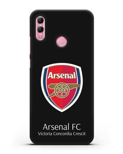 Чехол с логотипом ФК Арсенал Лондон силикон черный для Honor 10 Lite