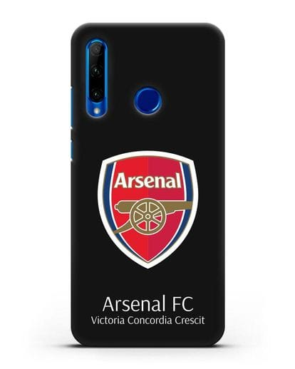 Чехол с логотипом ФК Арсенал Лондон силикон черный для Honor 10i