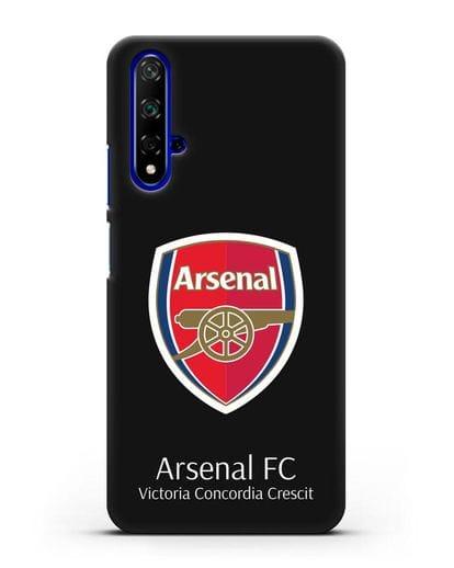Чехол с логотипом ФК Арсенал Лондон силикон черный для Honor 20