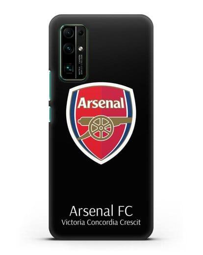 Чехол с логотипом ФК Арсенал Лондон силикон черный для Honor 30