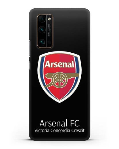 Чехол с логотипом ФК Арсенал Лондон силикон черный для Honor 30 Pro Plus