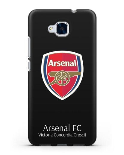 Чехол с логотипом ФК Арсенал Лондон силикон черный для Honor 5C