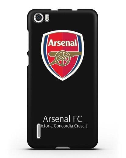 Чехол с логотипом ФК Арсенал Лондон силикон черный для Honor 6