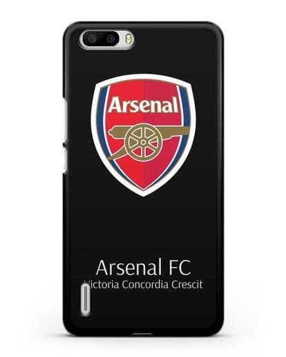 Чехол с логотипом ФК Арсенал Лондон силикон черный для Honor 6 Plus