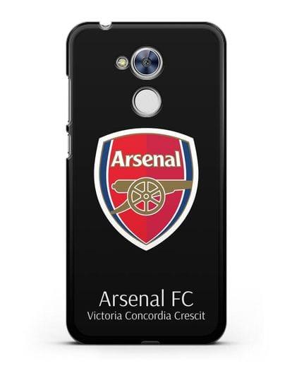 Чехол с логотипом ФК Арсенал Лондон силикон черный для Honor 6A