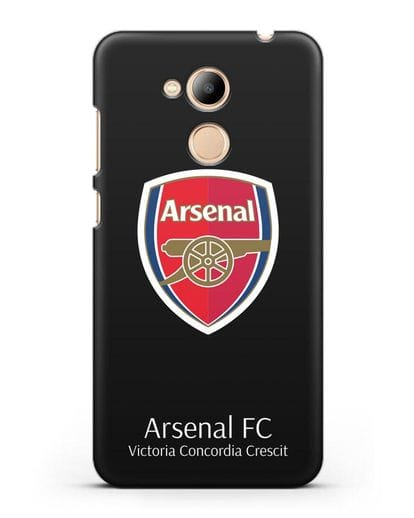 Чехол с логотипом ФК Арсенал Лондон силикон черный для Honor 6C Pro