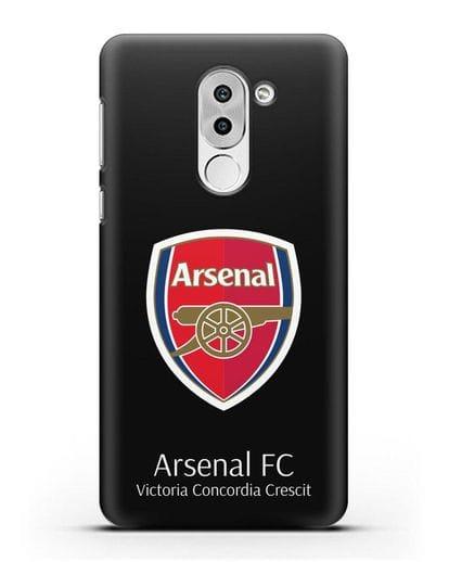 Чехол с логотипом ФК Арсенал Лондон силикон черный для Honor 6X
