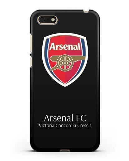 Чехол с логотипом ФК Арсенал Лондон силикон черный для Honor 7А