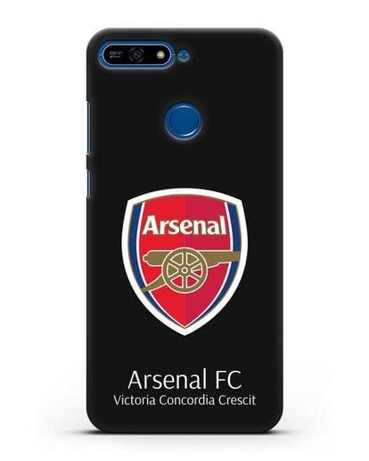 Чехол с логотипом ФК Арсенал Лондон силикон черный для Honor 7А Pro