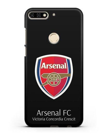 Чехол с логотипом ФК Арсенал Лондон силикон черный для Honor 7C