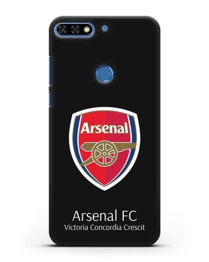 Чехол с логотипом ФК Арсенал Лондон силикон черный для Honor 7C Pro