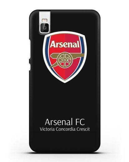 Чехол с логотипом ФК Арсенал Лондон силикон черный для Honor 7i