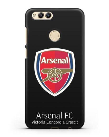 Чехол с логотипом ФК Арсенал Лондон силикон черный для Honor 7X