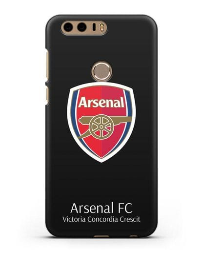 Чехол с логотипом ФК Арсенал Лондон силикон черный для Honor 8