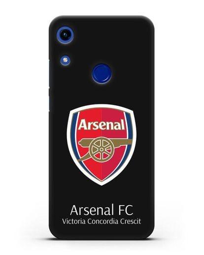 Чехол с логотипом ФК Арсенал Лондон силикон черный для Honor 8A
