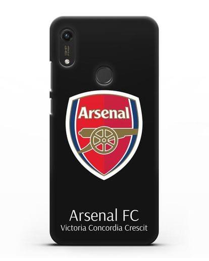 Чехол с логотипом ФК Арсенал Лондон силикон черный для Honor 8A Prime