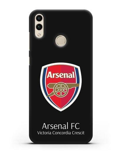 Чехол с логотипом ФК Арсенал Лондон силикон черный для Honor 8C