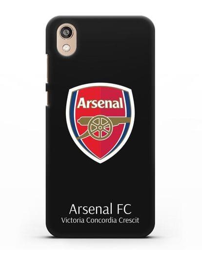Чехол с логотипом ФК Арсенал Лондон силикон черный для Honor 8S