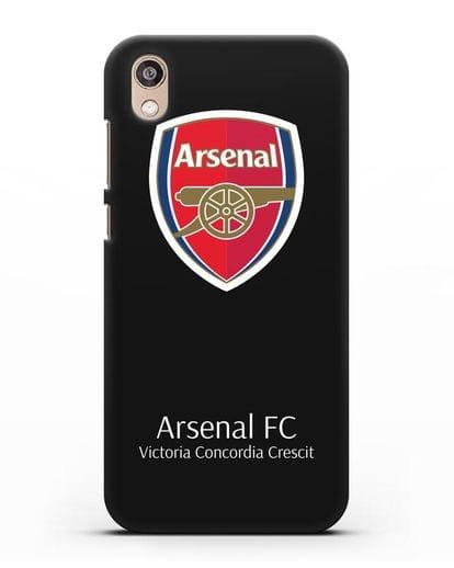 Чехол с логотипом ФК Арсенал Лондон силикон черный для Honor 8S Prime