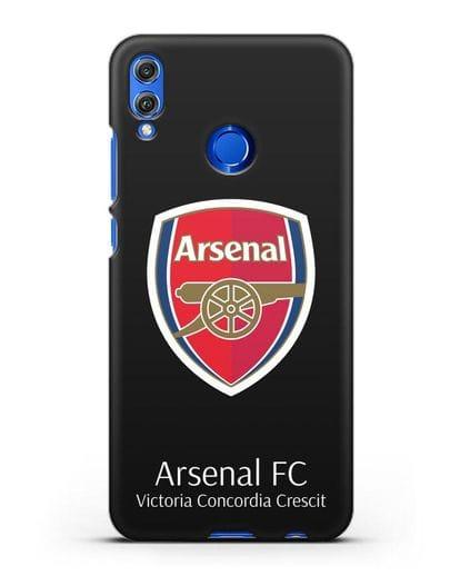Чехол с логотипом ФК Арсенал Лондон силикон черный для Honor 8X