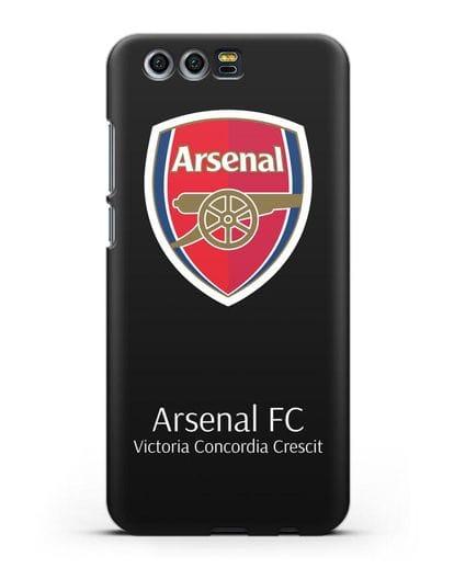 Чехол с логотипом ФК Арсенал Лондон силикон черный для Honor 9