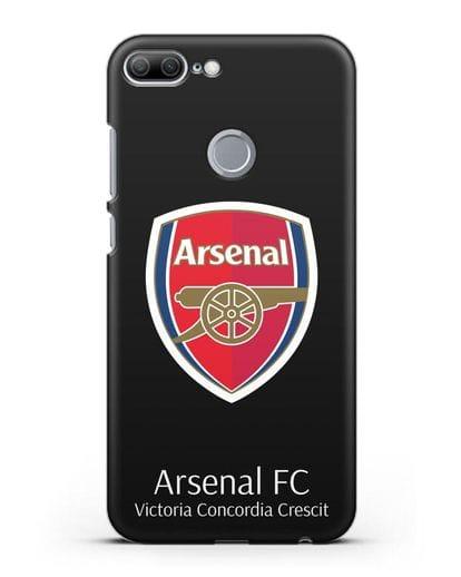 Чехол с логотипом ФК Арсенал Лондон силикон черный для Honor 9 Lite