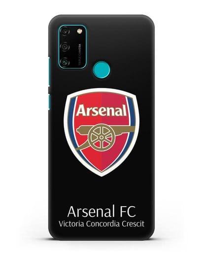 Чехол с логотипом ФК Арсенал Лондон силикон черный для Honor 9A