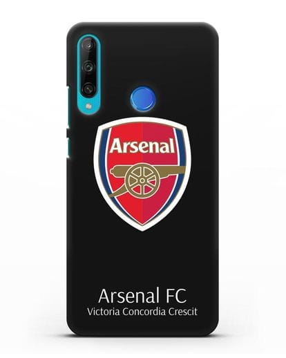 Чехол с логотипом ФК Арсенал Лондон силикон черный для Honor 9C