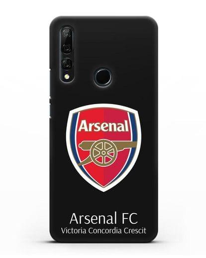 Чехол с логотипом ФК Арсенал Лондон силикон черный для Honor 9X