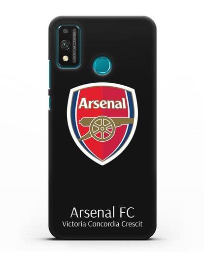 Чехол с логотипом ФК Арсенал Лондон силикон черный для Honor 9X lite