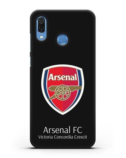 Чехол с логотипом ФК Арсенал Лондон силикон черный для Honor Play