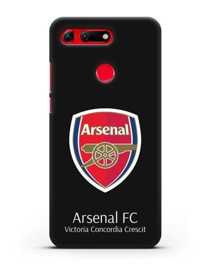 Чехол с логотипом ФК Арсенал Лондон силикон черный для Honor View 20