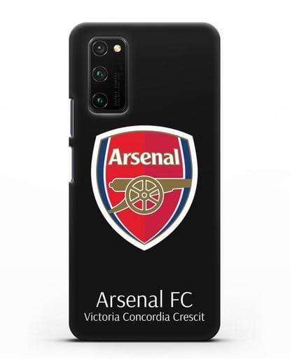 Чехол с логотипом ФК Арсенал Лондон силикон черный для Honor View 30 Pro
