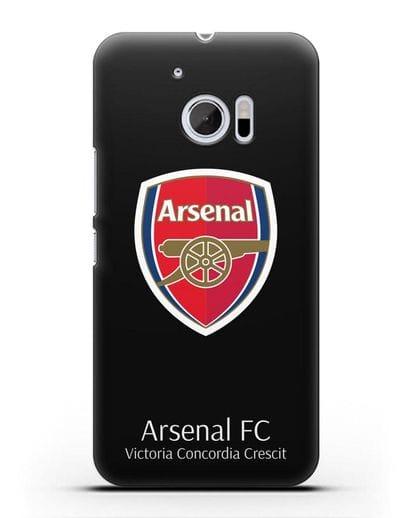 Чехол с логотипом ФК Арсенал Лондон силикон черный для HTC 10