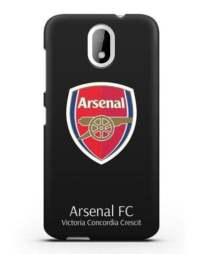Чехол с логотипом ФК Арсенал Лондон силикон черный для HTC Desire 526