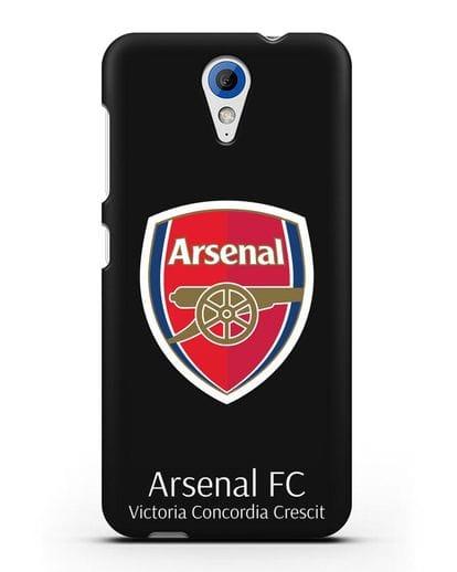 Чехол с логотипом ФК Арсенал Лондон силикон черный для HTC Desire 620
