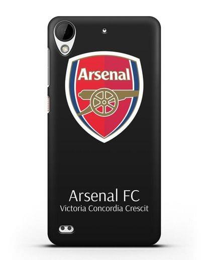 Чехол с логотипом ФК Арсенал Лондон силикон черный для HTC Desire 630